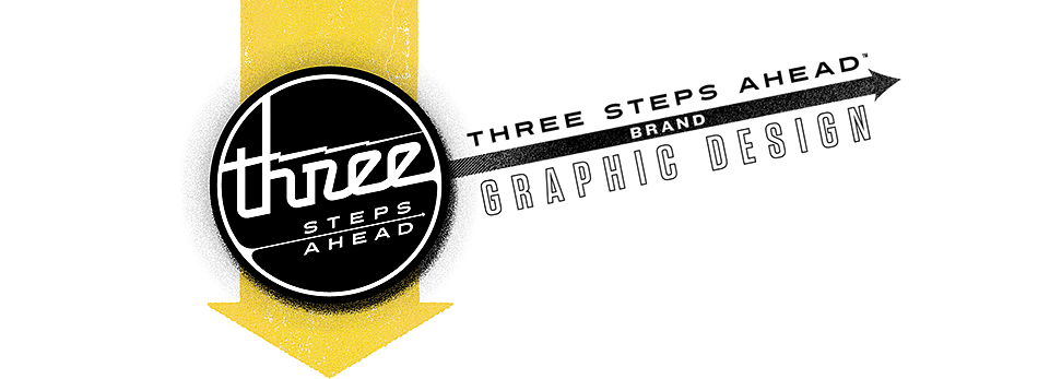 Three Steps Ahead Brand Graphic Design