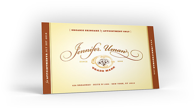 Jennifer Uman's business card design
